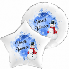 Balónek Vánoce Sněhulák