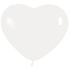Balón srdce Biely 005