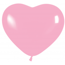 Balón srdce Ružové 109 pastel 6´´- 15cm