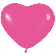 Balón srdce tmavo Ružové 12´´- 31cm