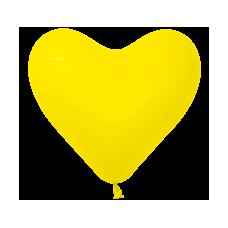 Balón srdce Žlté 320
