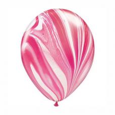 Balón ružový dúhový 28cm Red & White