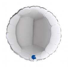Balón 9´´ Kruh strieborný 32 cm