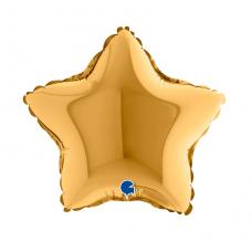 Balón 9´´ Hviezda zlatá 23 cm