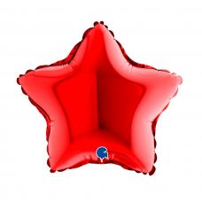 Balón 9´´ Hviezda červená 22 cm