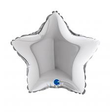 Balón 9´´ Hviezda strieborná 23 cm