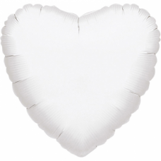 Balón Srdce 45 cm biele
