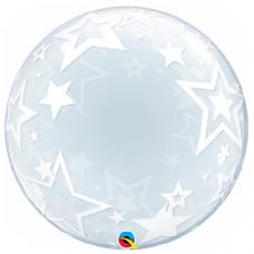 Balón Hviezdy priehľadný bubbles