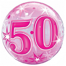 Balón 50. narodeniny bubbles