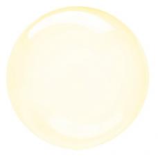 Balón priehľadný žltý fóliový