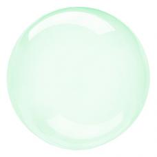 Balón priehľadný zelený fóliový