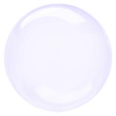 Balón priehľadný fialový fóliový