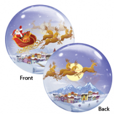 Balón Q Bubbles Santa In Sleigh Christmas