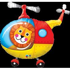 Balón Lev v helikoptére Lion Helicopter Q