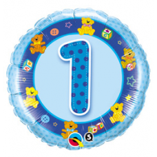 Balón 1 mackovia modrý