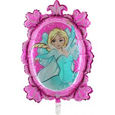 Balón Ľadová princezná zrkadlo
