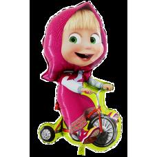 Balón Máša na bicykli