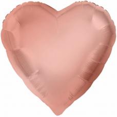 Balón Srdce Rosegold 71 cm