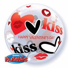 Balón Valentine´s Kisses & Hearts QB