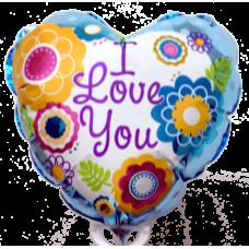 Balónik I Love You Kvetinky