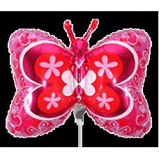Balónik Motýľ ružový