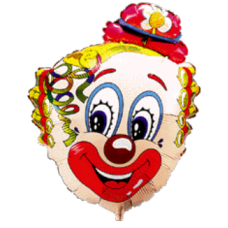 Balónik Klaun s kvietkom