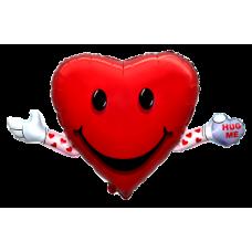 Balónik Srdce s rukami
