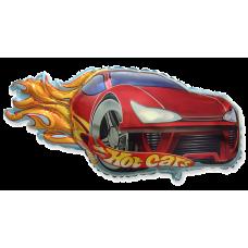 Balónik Auto plamene červené