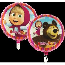 Balón Máša a Medveď kruh