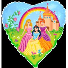 Balón Princezné s dúhou Srdce