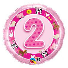 Balón číslo 2 Farma ružová