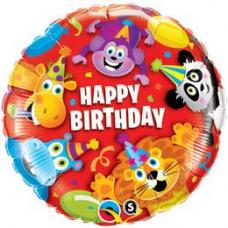 Balón Zvieratká Happy Birthday / BDay Party Animals