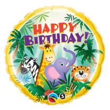 Balón Zvieratká / BDay Jungle Friends