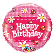 Balón Lienky Happy Birthday / BDay Ladybugs & Daisies