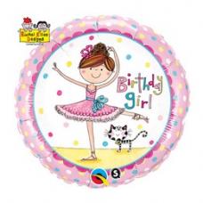 Balón Baletka Happy Birthday / BDay RE Girl Ballerina
