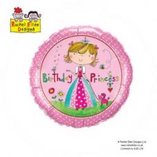 Balón Princezná Happy Birthday / BDay RE Princess