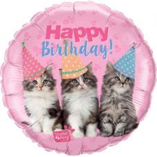 Balón Mačičky Happy Birthday / Bday Kittens