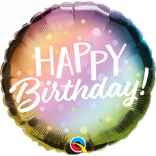 Balón Happy Birthday / Bday Metallic Ombre & Dots