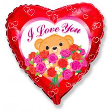 Balón Macko s ružami