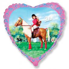Balón Barbie na koni