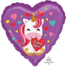 Balón Jednorožec srdce