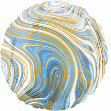 Balón fóliový mramor modrý