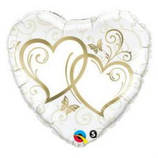 Balón srdiečko svadobné zlaté