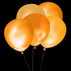 Svietiace balóny ORANŽOVÉ s bielym LED svetlom 5 ks