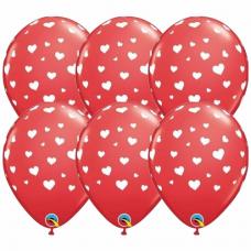 Balóny so srdiečkami 6ks