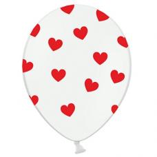 Balóny so srdiečkami červené 6ks