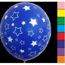 Balón gumový s potlačou Hviezdy