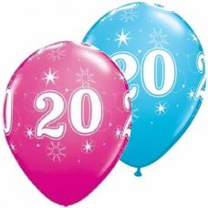 Balón číslo 20 Sparkle RND 11´´ Q