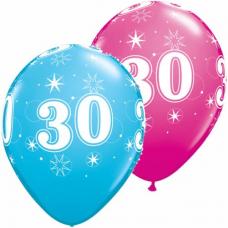 Balón narodeninový číslo 30 11´´