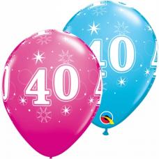 Balón narodeninový číslo 40 11´´